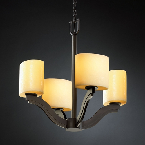 Justice Design Group Justice Design Group Candlearia Collection Chandelier CNDL-8970-30-AMBR-DBRZ
