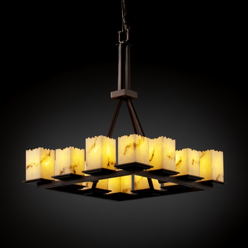 Justice Design Group Justice Design Group Lumenaria Collection Chandelier FAL-8663-17-DBRZ