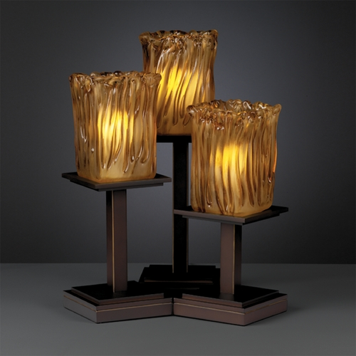 Justice Design Group Justice Design Group Veneto Luce Collection Table Lamp GLA-8697-26-AMBR-DBRZ