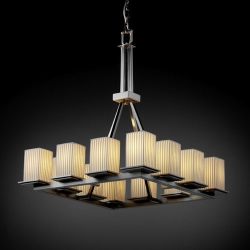Justice Design Group Justice Design Group Limoges Collection Chandelier POR-8663-15-PLET-NCKL