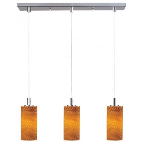 ET2 Lighting Carte Satin Nickel Multi-Light Pendant with Cylindrical Shade E92053-14SN