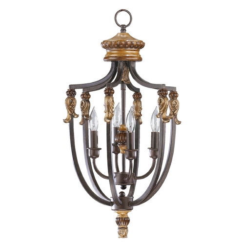 Quorum Lighting Quorum Lighting Capella Toasted Sienna with Golden Fawn Pendant Light 6701-4-44
