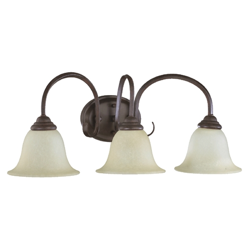 Quorum Lighting Quorum Lighting Spencer Toasted Sienna Bathroom Light 5110-3-44