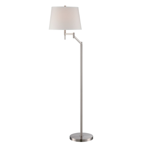 Lite Source Lighting Lite Source Lighting Eveleen Polished Steel Swing Arm Lamp with Drum Shade LS-82138