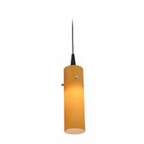 Access Lighting Access Lighting Tungsten Bronze LED Mini-Pendant Light with Cylindrical Shade 72932LED-BRZ/AMB
