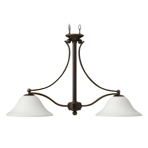Hinkley Lighting Hinkley Lighting Bolla Olde Bronze Island Light with Bowl / Dome Shade 4662OB-OPAL