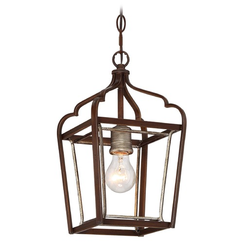Minka Lavery Minka Astrapia Dark Rubbed Sienna with Aged Silver Mini-Pendant Light 4341-593