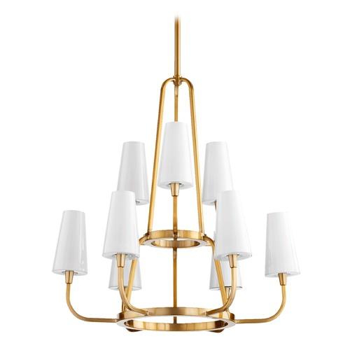 Quorum Lighting Quorum Lighting Highline Aged Brass Chandelier 632-9-80