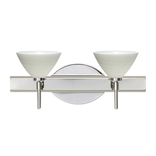 Besa Lighting Besa Lighting Domi Chrome LED Bathroom Light 2SW-1743KR-LED-CR