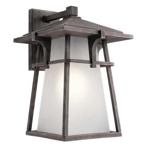 Kichler Lighting Kichler Lighting Beckett Weathered Zinc LED Outdoor Wall Light 49723WZCL16