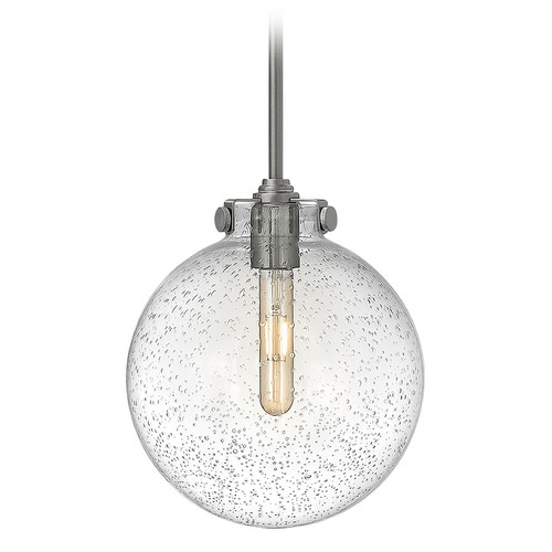Hinkley Lighting Hinkley Lighting Congress Antique Nickel Pendant Light with Globe Shade 3125AN