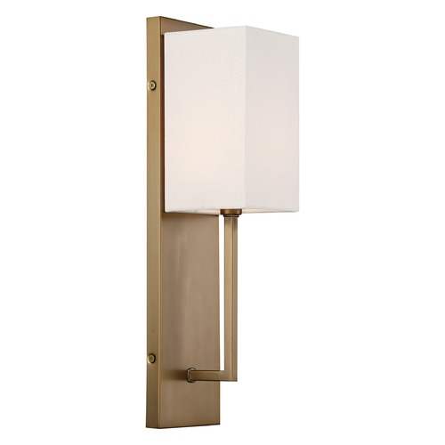 Nuvo Lighting Satco Lighting Vesey Burnished Brass Sconce 60/6692