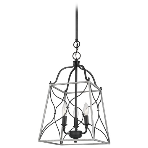 Sea Gull Lighting Sea Gull Lighting Carra Weathered Zinc Pendant Light with Square Shade 6531503-808