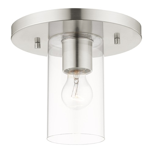 Livex Lighting Livex Lighting Zurich Brushed Nickel Flushmount Light 45471-91