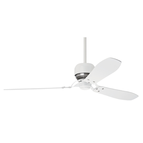Casablanca Fan Co Casablanca Fan Tribeca Snow White Ceiling Fan Without Light 59503