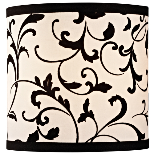 Design Classics Lighting Black Drum Lamp Shade with Uno Assembly SH9513