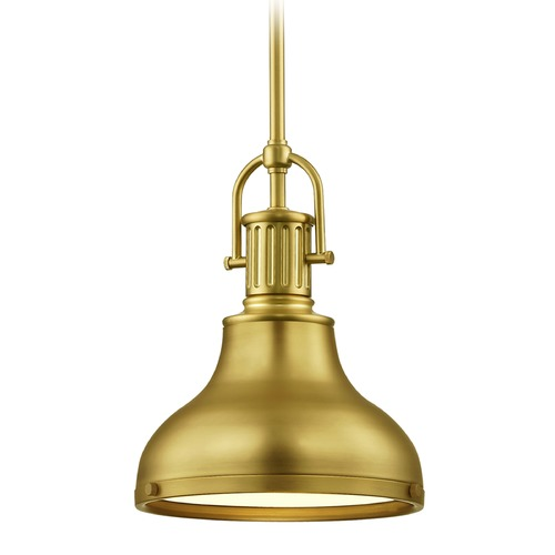 Design Classics Lighting Industrial Small Pendant Light Brass 8.63-Inch Wide 1764-12 SH1778-12 R1778-12