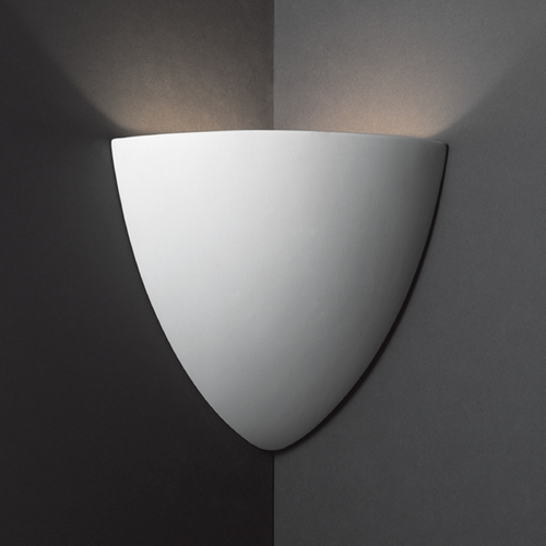 Justice Design Group Corner Sconce Wall Up Light in Bisque Finish CER-1870-BIS