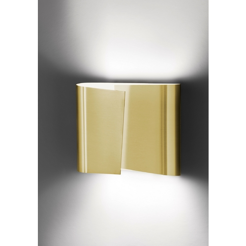 Holtkoetter Lighting Holtkoetter Modern Sconce Wall Light in Brushed Brass Finish 8532 BB