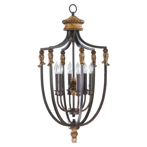 Quorum Lighting Quorum Lighting Capella Toasted Sienna with Golden Fawn Pendant Light 6701-6-44