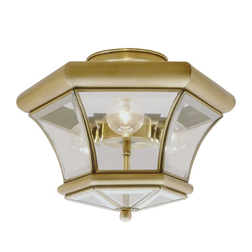 Livex Lighting Livex Lighting Monterey Antique Brass Semi-Flushmount Light 4083-01