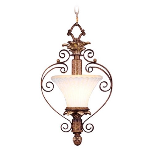 Livex Lighting Livex Lighting Savannah Venetian Patina Mini-Pendant Light with Bell Shade 8421-57
