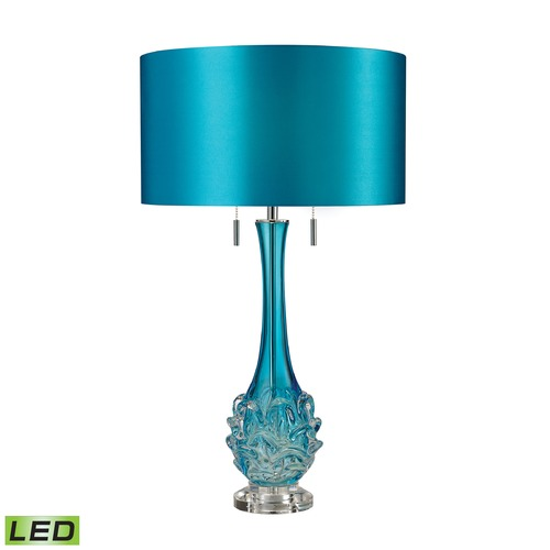 Dimond Lighting Dimond Lighting Blue LED Table Lamp with Drum Shade D2666-LED