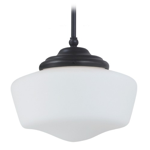 Sea Gull Lighting Schoolhouse LED Pendant Light Bronze Academy by Sea Gull Lighting 6543891S-782