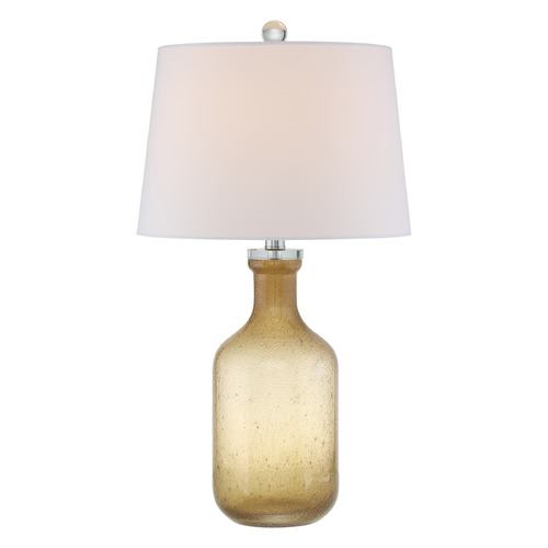 Quoizel Lighting Quoizel Lighting Quoizel Portable Lamp Amber Table Lamp with Empire Shade Q2317T