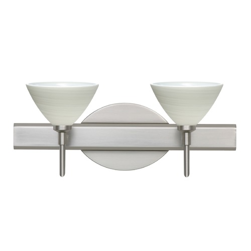 Besa Lighting Besa Lighting Domi Satin Nickel LED Bathroom Light 2SW-1743KR-LED-SN