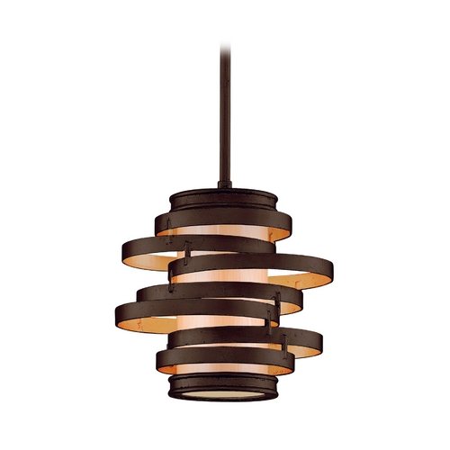 Corbett Lighting Modern Mini-Pendant Light with Beige / Cream Glass 113-41