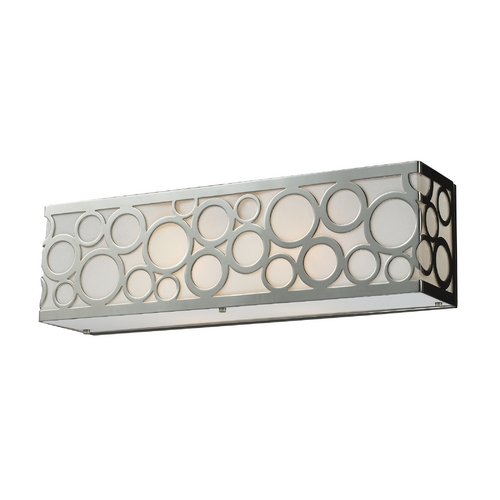 Elk Lighting Modern Bathroom Light with White Glass in Polished Nickel Finish 31022/2