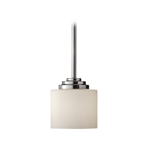Feiss Lighting Modern Mini-Pendant Light with White Glass P1263PN