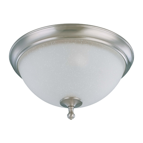 Nuvo Lighting Flushmount Light with White Glass in Brushed Nickel Finish 60/2793