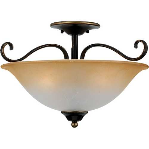 Quoizel Lighting Three-Light Semi-Flush Ceiling Light DH1718PN
