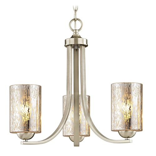Design Classics Lighting Design Classics Dalton Fuse Satin Nickel Mini-Chandelier 5843-09 GL1039C