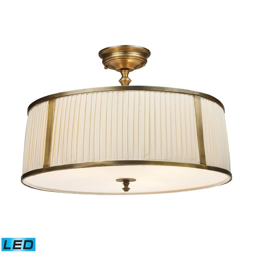 Elk Lighting Elk Lighting Williamsport Vintage Brass Patina LED Semi-Flushmount Light 11055/4-LED