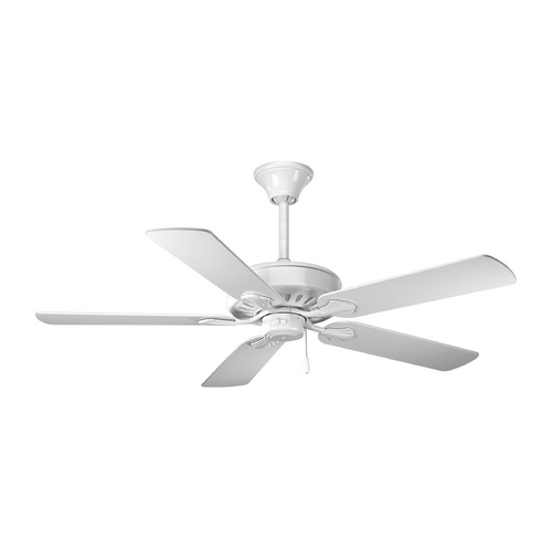 Progress Lighting Progress Ceiling Fan Without Light in White Finish P2503-30W