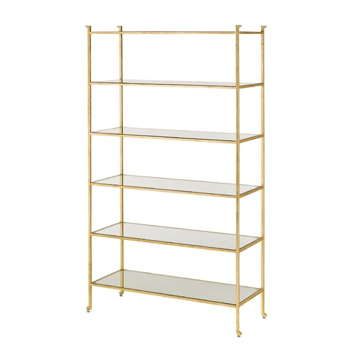 Currey and Company Lighting Currey and Company Lighting Delano Gold Leaf Shelving 4129