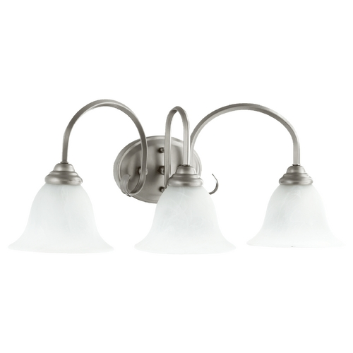 Quorum Lighting Quorum Lighting Spencer Classic Nickel Bathroom Light 5110-3-64
