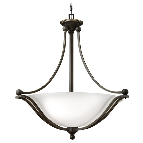Hinkley Lighting Hinkley Lighting Bolla Olde Bronze Pendant Light with Bowl / Dome Shade 4664OB-OPAL