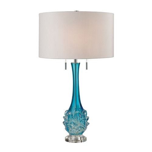Dimond Lighting Dimond Lighting Blue Table Lamp with Drum Shade D2666W
