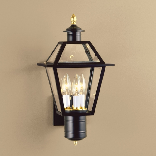 Norwell Lighting Norwell Lighting Lexington Black Outdoor Wall Light 2233-BL-CL