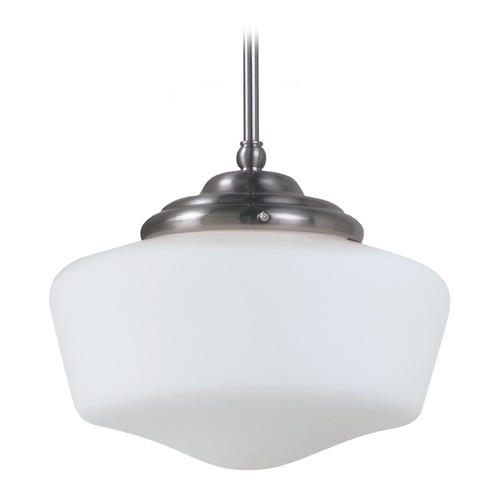 Sea Gull Lighting Sea Gull Lighting Academy Brushed Nickel LED Pendant Light 6543891S-962
