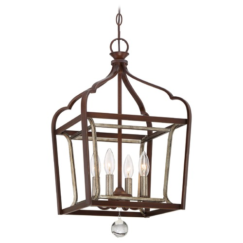 Minka Lavery Minka Astrapia Dark Rubbed Sienna with Aged Silver Pendant Light 4343-593