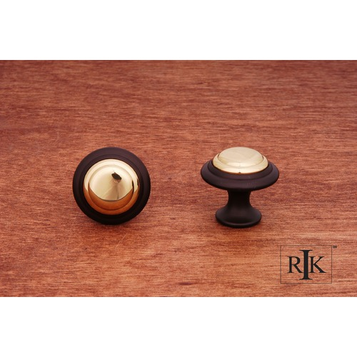 RK International Step Up Knob with Brass Middle CK9214BRB