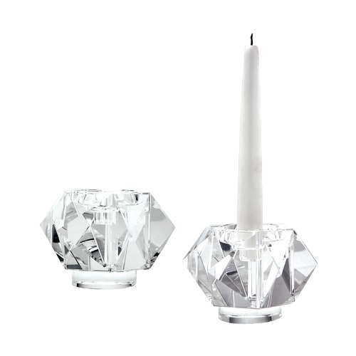 Dimond Home Faceted Star Crystal Candleholders - Smallall. Set Of 2 980010/S2