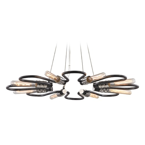 Elk Lighting Elk Lighting Continuum Silvered Graphite, Polished Nickel Chandelier 31903/8
