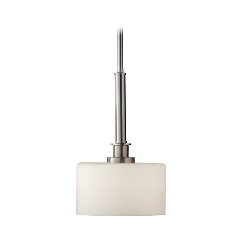 Feiss Lighting Modern Mini-Pendant Light with White Glass P1264BS