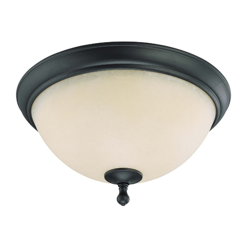 Nuvo Lighting Flushmount Light with Beige / Cream Glass in Aged Bronze Finish 60/2794